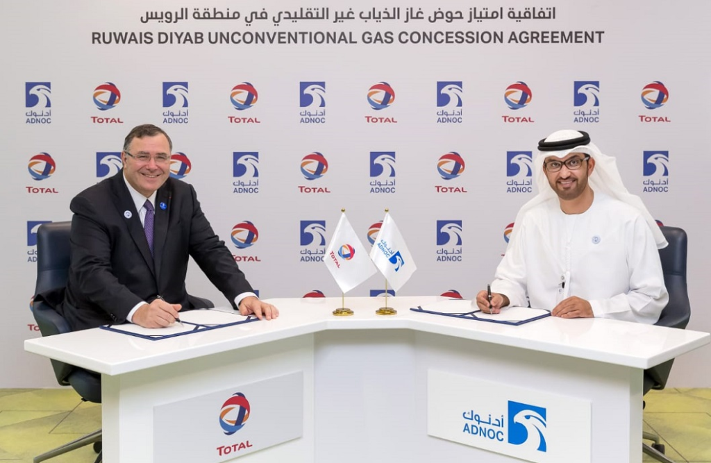 JPT Total, ADNOC To Explore for Unconventional Gas in Abu Dhabi